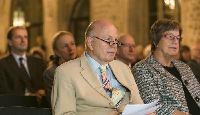 Professor Christoph Stölzl mit Braunschweigs Bürgermeisterin Friederike Harlfinger. Foto: Peter Sierigk