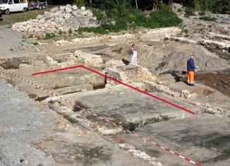 Lage der entdeckten Stadtmauerreste an der Wendenstraße. Foto: Udo Gebauhr