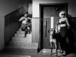 Blonde with Great Dane. Foto: Dokumentation