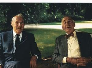 Richard Borek und Herbert Meyersfeld in Braunschweig (1991). Foto: Borek