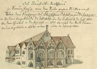 Neustadtrathaus, vor 1773 (Stadtarchiv Braunschweig)