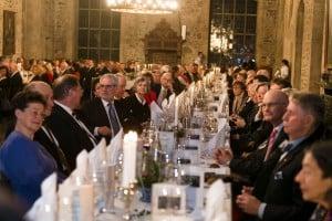 """Die Gäste hörten dem Festvortag """"Stiftungen zwischen Gemeinsinn und Eigensinn"""" von Rüdiger Becker, dem Direktor der evangelischen Stiftung"""