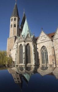 Gewandhaus Westseite, Platz an der Martinikirche. Foto: Peter Sierigk
