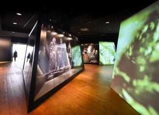 """Blick in die Ausstellung """"Roms vergessener Feldzug. Die Schlacht am Harzhorn"""". Foto: Andreas Greiner-Napp"""