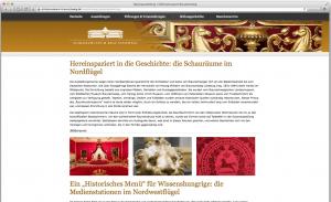 So ist eine Themenseite im Internetauftritt des Schlossmuseums gestaltet.