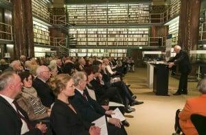 Kein Platz war während der Ehrung in der Augusteerhalle der Herzog August Bibliothek frei. Foto: Peter Sierigk