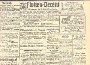 """Der Flotten-Verein Braunschweig sammelte für die """"blauen Jungs"""" auf dem Linienschiff """"Braunschweig"""". Foto: Archiv E.-J. Zauner"""