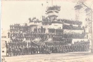 """Bis zu 750 Mann Besatzung hatte das Linienschiffes """"Braunschweig"""". Foto: Archiv E.-J. Zauner"""