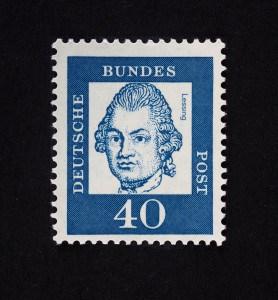 Gotthold Ephraim Lessing, Bedeutende Deutsche 1961, 40 Pfennig. Foto: Peter Sierigk