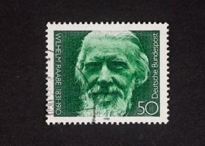 Wilhelm Raabe, 150. Geburtstag 1981, 50 Pfennig, Repro: Peter Sierigk