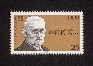 Richard Dedekind, Bedeutende Personen 1981 DDR, 25 Pfennig, Repro: Peter Sierigk