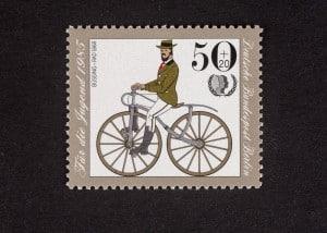 Büssing-Rad, Jugendmarke 1985, 50 + 20 Pfennig, Repro: Peter Sierigk