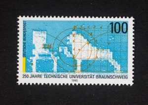 Technische Universität, 250. Gründungsjubiläum 1995, 100 Pfennig, Repro: Peter Sierigk