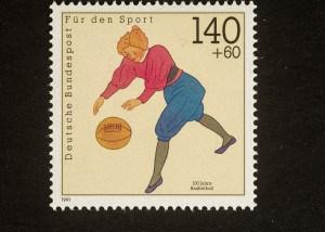 100 Jahre Basketball , 1991, 140 + 60 Pfennig, Repro: Peter Sierigk