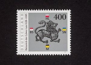 Heinrich der Löwe, 800. Todestag 1995, 400 Pfennig, Repro: Peter Sierigk