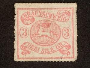 Eine der ersten Briefmarken des Herzogtums Braunschweig. Repro: Peter Sierigk