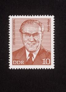 Otto Grotewohl, Verdienstvolle Persönlichkeiten der deutschen Arbeiterbewegung 1974 DDR, 10 Pfennig, Repro: Peter Sierigk