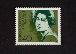 Ricarda Huch, Internationales Jahr der Frau 1975, 40 Pfennig, Repro: Peter Sierigk