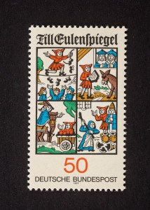 Till Eulenspiegel, 625. Todestag 1977, 50 Pfennig, Repro: Peter Sierigk