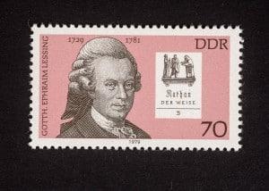 Gotthold Ephraim Lessing, Bedeutende Persönlichkeiten 1979 DDR, 70 Pfennig, Repro: Peter Sierigk