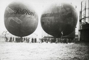 Ballonstart am Gaswerk in Braunschweig (27.10.1912)