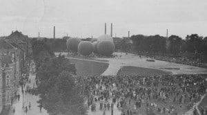Ballonstart auf dem Kl. Exerzierplatz in Braunschweig (29.08.1931)