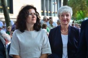 Niedersachsens Ministerin für Wissenschaft und Kultur, Dr. Gabriele Heinen-Kljajić, mit Christina Steinbrügge, Vorsitzende der Braunschweigischen Landschaft und Landrätin von Wolfenbüttel. Foto: Andreas Greiner-Napp
