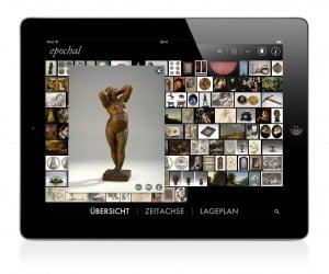 """Die """"Klagende Eva"""" von Leonard Kern (1588 - 1663) lässt sich auf dem iPad drehen und kann so von allen Seiten betrachtet werden. Foto: Herzog Anton Ulrich Museum"""