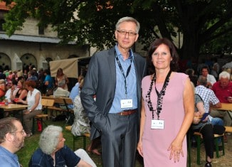 """Die """"Macher"""" der """"Sommernacht am Kaiserdom"""" in Königslutter: Beatrix Barthold-Miehe und Dr. Norbert Funke. Foto: Andreas Greiner-Napp"""
