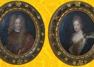 Ölgemäde von Herzog Anton Ulrich und seiner Ehefrau Elisabeth Juliane