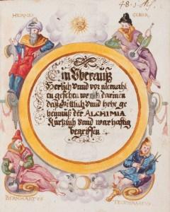 Alchemische Autoritäten, Papierhandschrift, 16. Jh. Foto: HAB