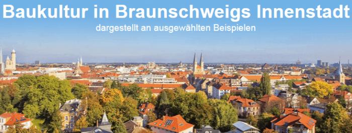 Die Silhouette Braunschweigs führt in die Internetseite ein.