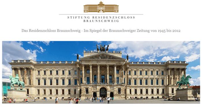 So sieht die Startseite von www.braunschweiger-residenzschloss.de aus. Screenshot: meyermedia
