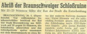 Bericht über die Abstimmung zum Abriss 1960. Screenshot: meyermedia