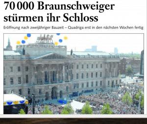 Bericht zur offiziellen Eröffnung des Schlosses. Screenshot: meyermedia