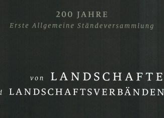 Titel der gerade erschienen Broschüre über die Landschaften und Landschaftsverbände in Niedersachsen.