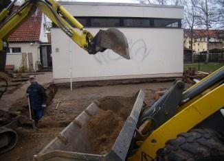 Bauarbeiten am Mütterzentrum haben begonnen. Foto: Mütterzentrum