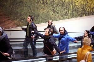Mit besonderen Audiowalks erkundeten die Teilnehmer Salzgitter. Foto Stefanie Bischoff