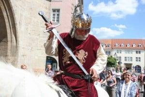 Thomas Ostwald als Heinrich der Löwe. Foto: Heinrich-Festspiele