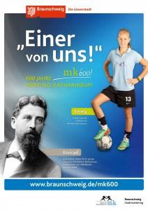 """Plakat mit Konrad Koch. Copyright: """"Braunschweig Stadtmarketing GmbH/Steffen und Bach"""