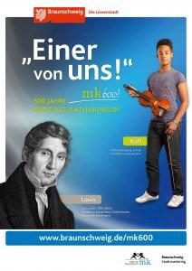 """Plakat mit Louis Spohr. Copyright: """"Braunschweig Stadtmarketing GmbH/Steffen und Bach"""