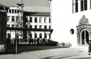 Bauarbeiten 1957. Foto MK