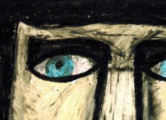 """Diese Augen malte Thomas Stanovic und inspirierte damit die Galerie Geyso 20 zur Ausstellung """"Im Augen_Blick"""". Repro: Meyer"""