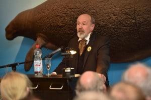Museumsdirektor Prof. Dr. Ulrich Joger begrüßte die Gäste. Foto: Andreas Greiner-Napp