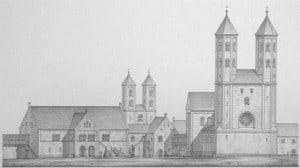 So hatte sich Ludwig Winter die Burg mit zwei Türmen vorgestellt.