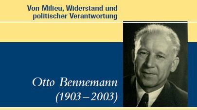 Buchtitel der Otto Benneman-Biographie.