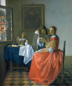 Jan Vermeer, Das Mädchen mit dem Weinglas, ca. 1658 bis 1660. Foto: Herzog Anton Ulrich-Museum