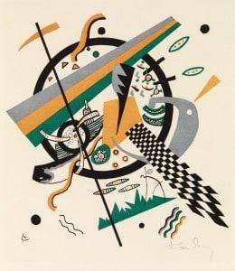 Wassily Kandinsky, Kupferstich, Kleine Welten IV, 1922. Foto: Herzog Anton Ulrich-Museum
