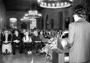Empfang der Stadt zum 90. Geburtstag Otto Bennemanns in der Dornse des Altstadtrathauses. Foto: Stadtarchiv G IX 76_739_0001