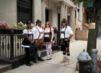 Auf der Steuben-Parade in New York stellen sich US-Amerikaner gerne in bayrischen Trachten zur Schau. Foto Birte Hennigs